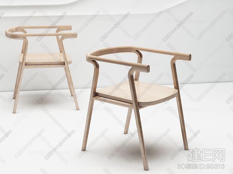 后现代新中式椅子3d模型下载[id:90313]