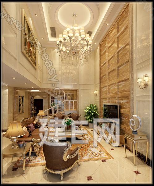 欧式别墅客餐厅玄关组合3d模型下载[id:93327]