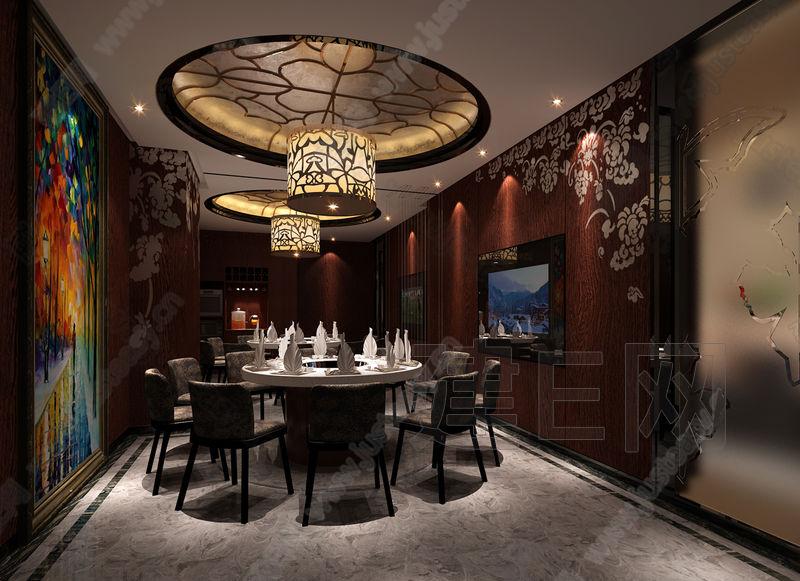 中国酒店设计网 >> 装修效果图 >> 中式餐厅包房宴会包间餐