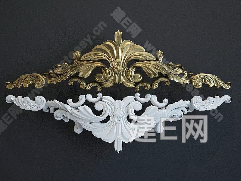 欧式构件雕花3d模型下载[id:95278]