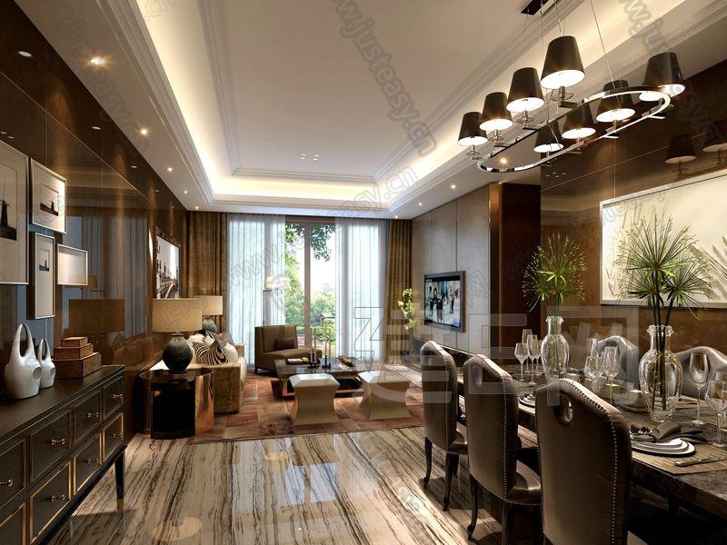 詞:客廳,餐廳,沙發,茶幾