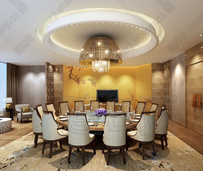 新中式酒店包房3d模型下载[id:101688]