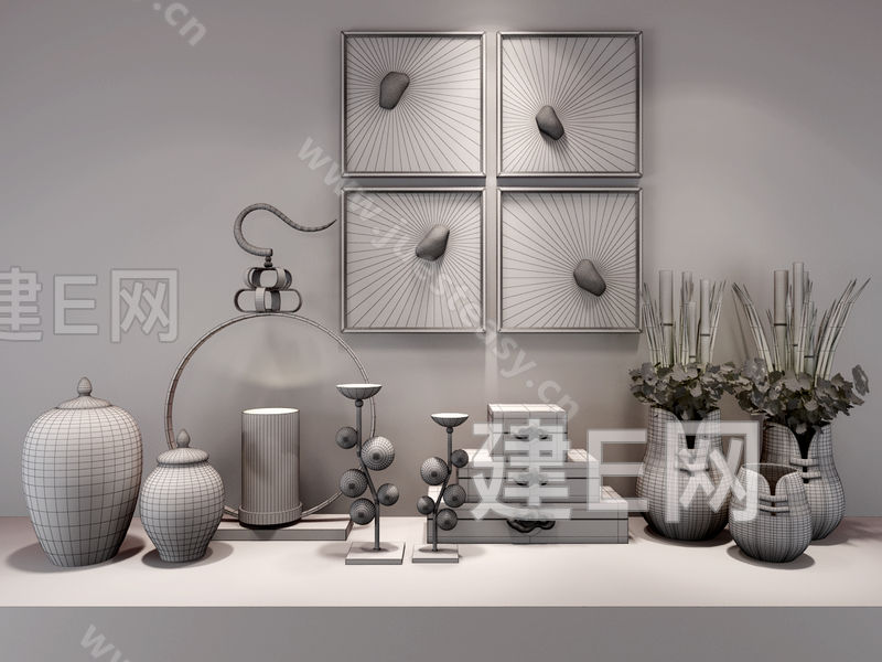 家具组合陈设手绘