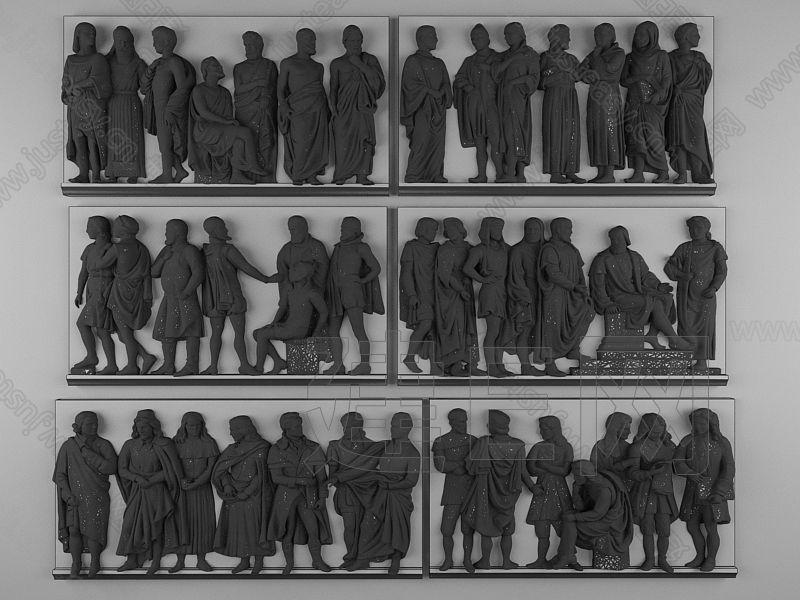 欧式人物浮雕3d模型下载[id:126021]