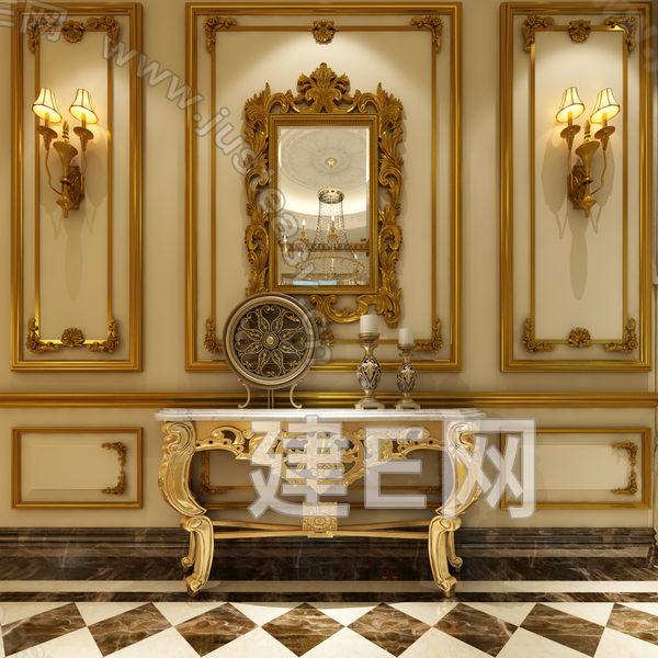 欧式端景台 欧式装饰镜