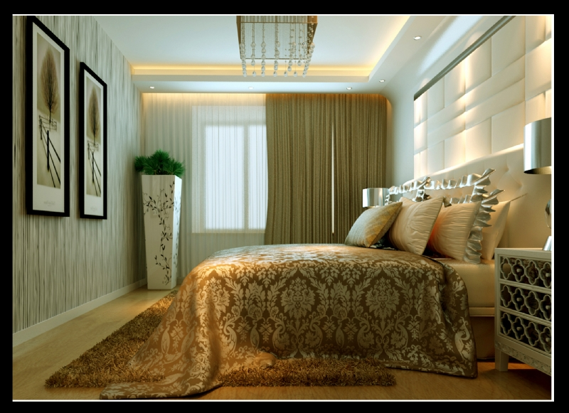 实创装饰 远洋香奈三居室现代简约风格简洁大方装修效果图