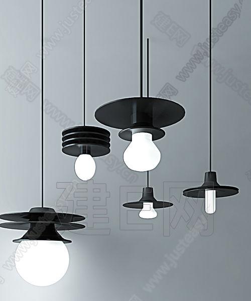 铁艺工业吊灯组合3d模型下载[id:113268]
