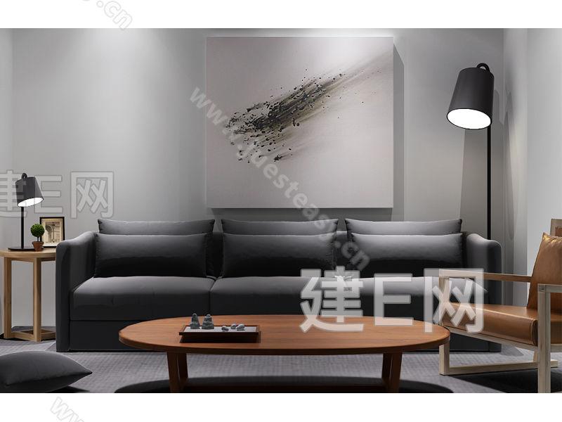 现代简约沙发椅组合3d模型下载[id:113356]