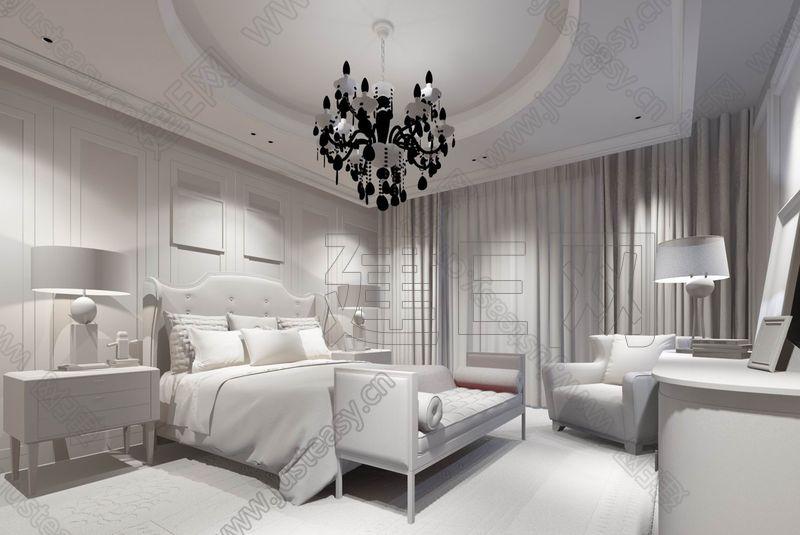 新古典卧室3d模型