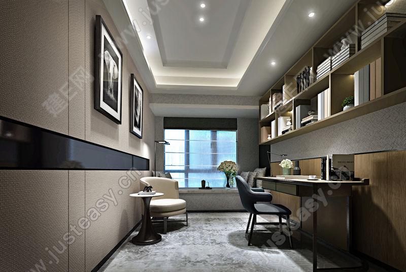 现代书房3d模型