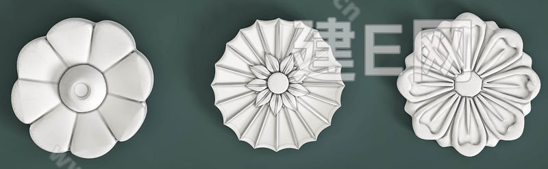 欧式石膏雕花组合3d模型下载[id:134755]