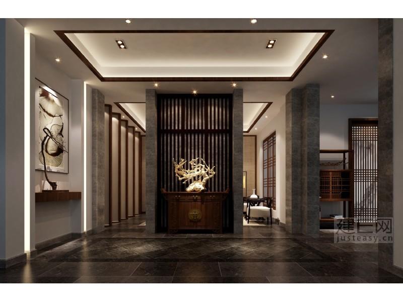 中式地下室中庭3d模型下载[id:135923]图片