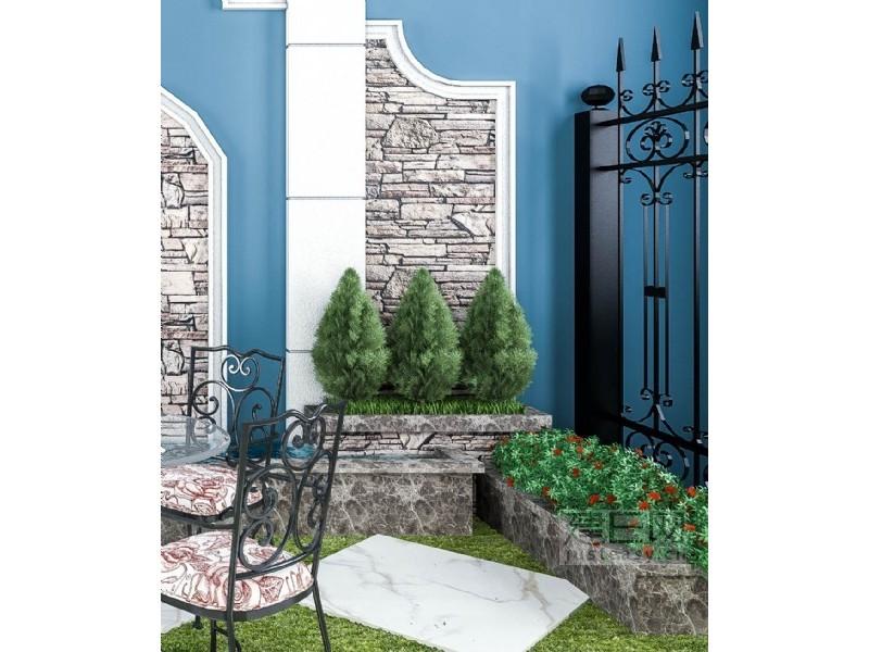 欧式花园水池组合3d模型下载[id:136127]