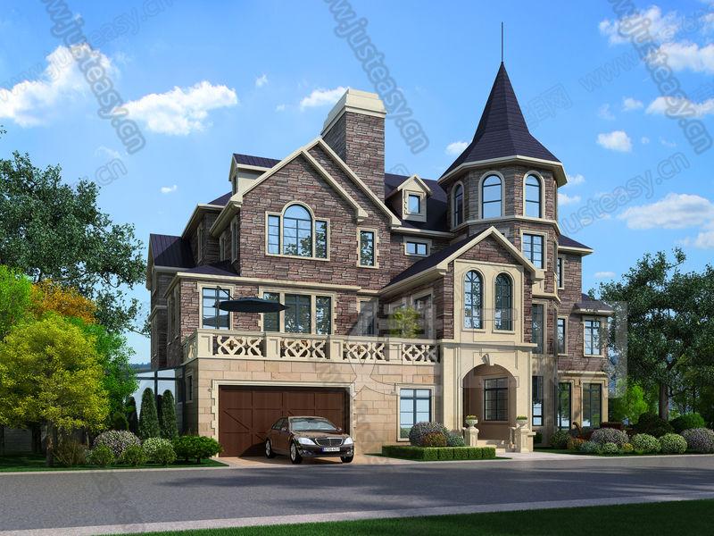 欧式风格建筑外观3d模型下载[id:149110]