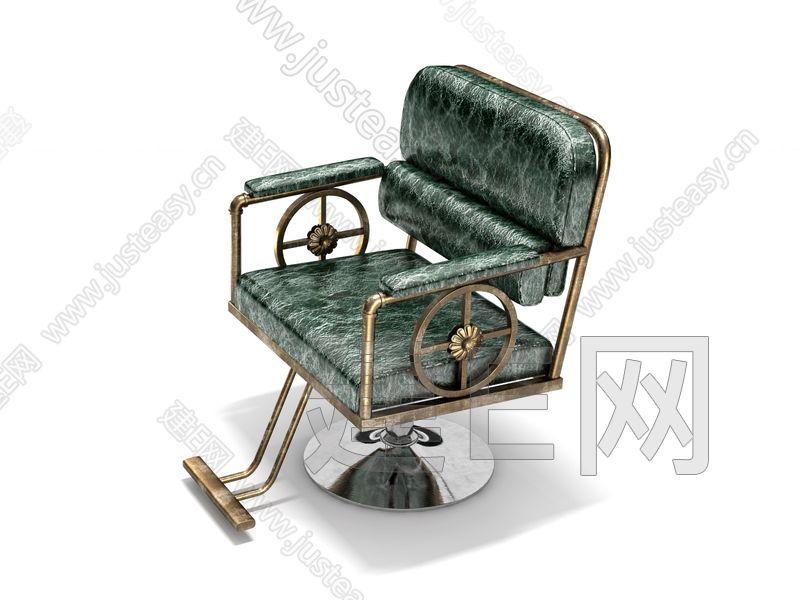 工业风理发店椅子3d模型