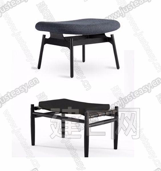 新中式凳子3d模型