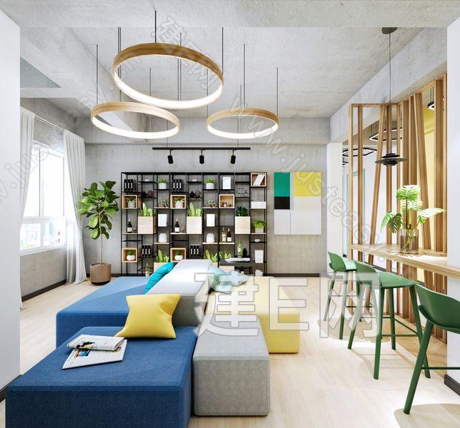 现代休闲区3d模型
