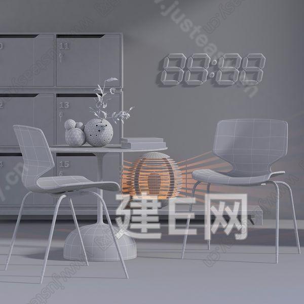 丹麦 HOUSE OF FINN JUHL 北欧休闲椅3d模型
