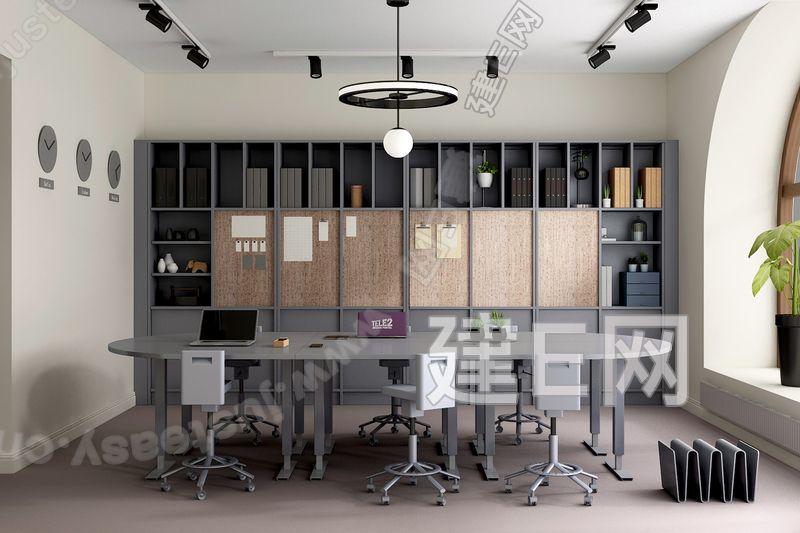 """瑞典 世界首创""""End-Up""""创意公司 现代办公室3d模型"""