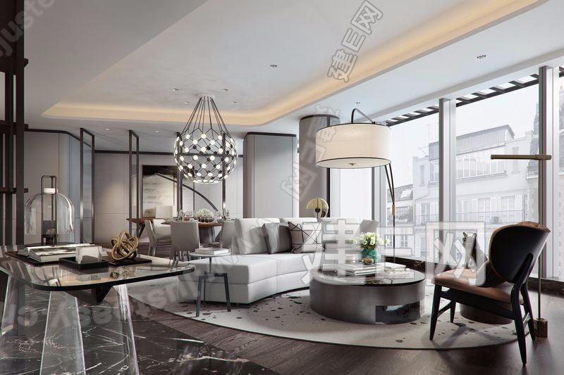 CCD郑忠澳门永利官网 现代客餐厅3d模型