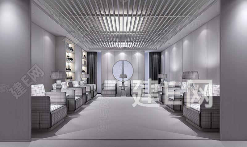 新中式贵宾接待室3d模型