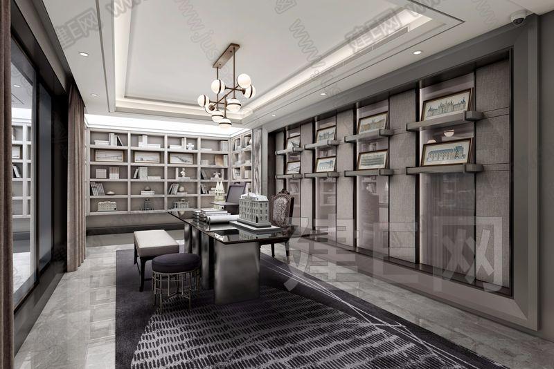 后现代书房3d模型