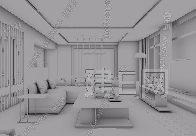 深圳联投东方万怡现代酒店套房3d模型