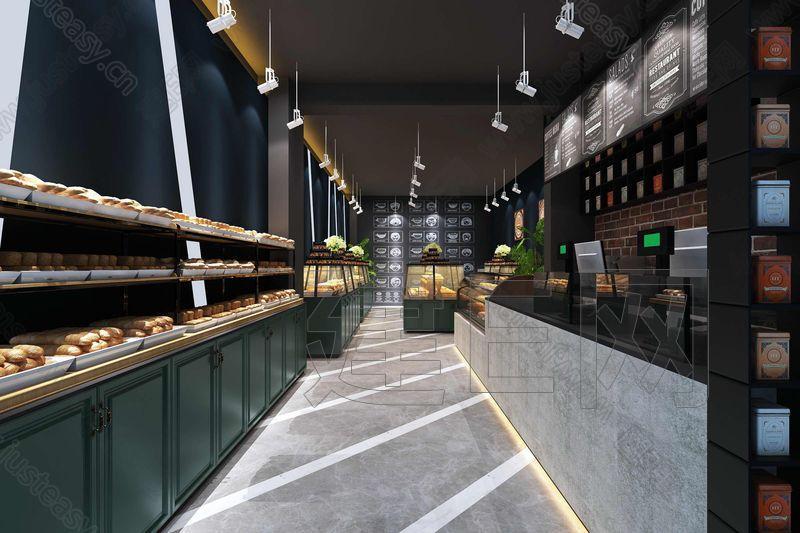工业风蛋糕烘焙店3d模型