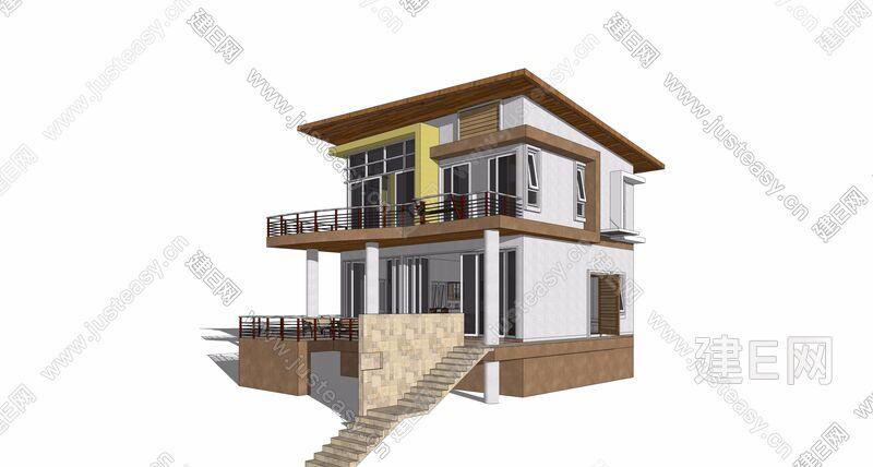 现代别墅自建房[模型id:25361]