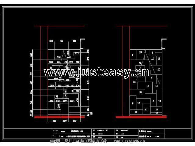 三层现代别墅施工图附效果图cad图纸下载 室内设计装修资