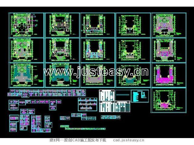 大型医院施工图cad图纸下载 室内设计装修资源平台高清图片