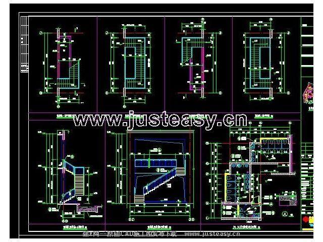 益阳茶室建筑结构设计施工图cad图纸下载[id:219]