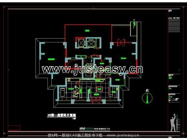 d3栋会所施工图附家具图cad图纸下载 室内设计装修资源平台