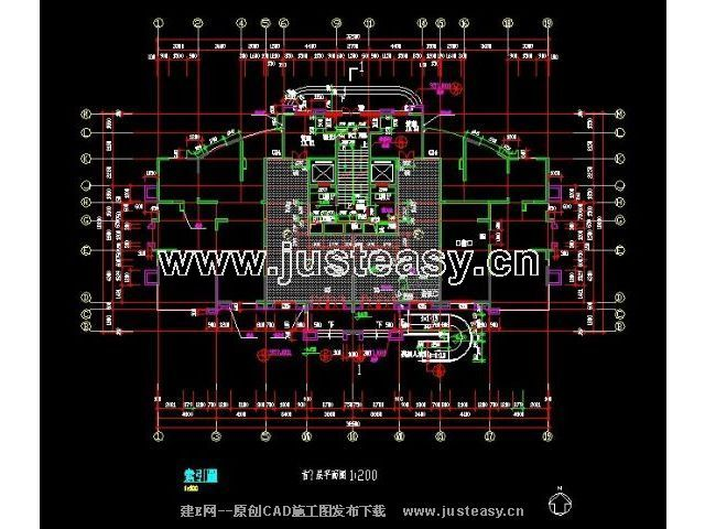 天上海金色贝拉维4大堂图纸施工图cad图纸练习法下脚号楼跆拳道图片