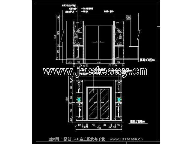 建e网 图纸首页 装饰造型 门窗 各类装饰门立面图集【图纸id:487】