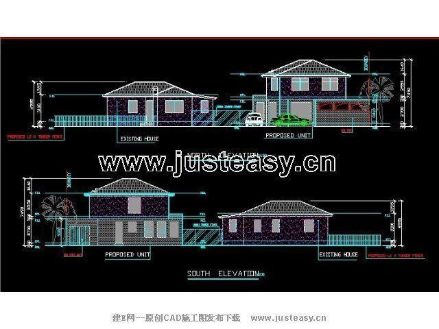 某欧式别墅建筑规划设计图cad图纸下载[id:535]