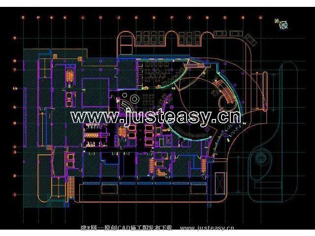 hba上海红塔大酒店客房施工图及楼层平面天花图cad