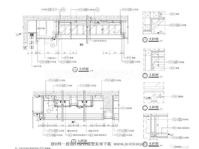 标准层b1单元室内装饰设计施工图b1欧式奢华cad图纸