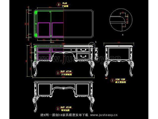 欧式家具结构设计图