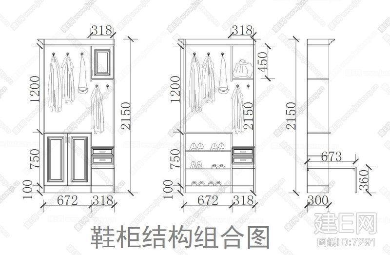 施工图纸下载,柜子结构图,cad图块,施工图节点大全