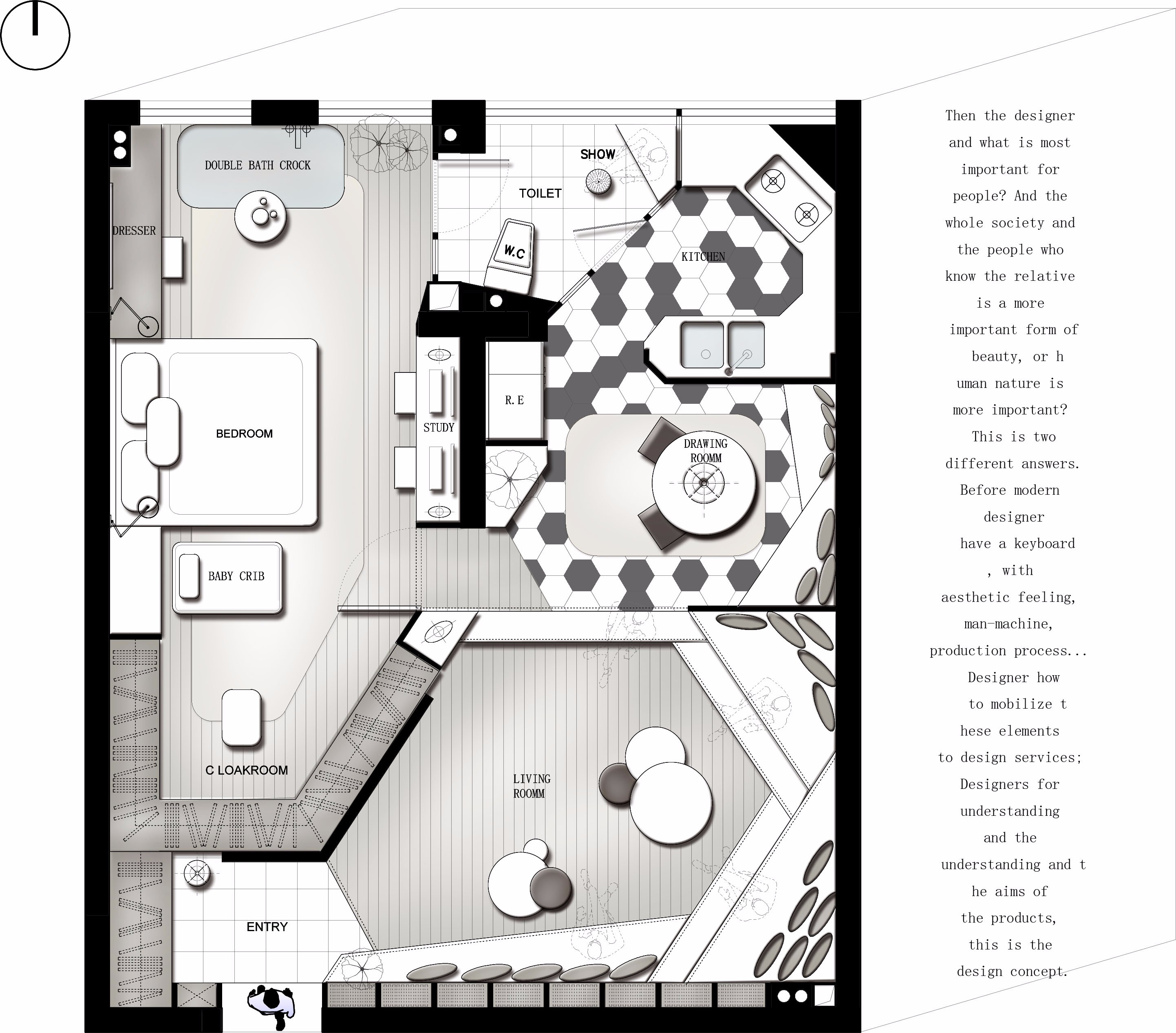 花西平面优化作品集 - 效果图交流区-建e室内设计网