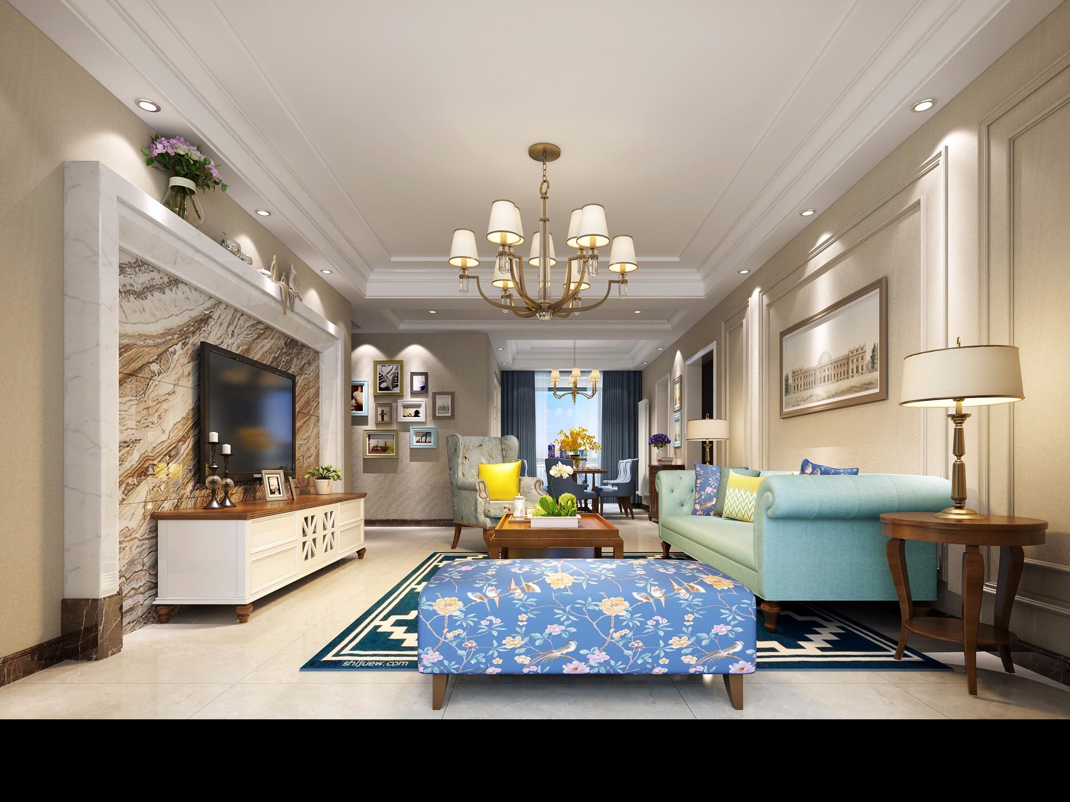 客厅- 效果图交流区-建e室内设计网
