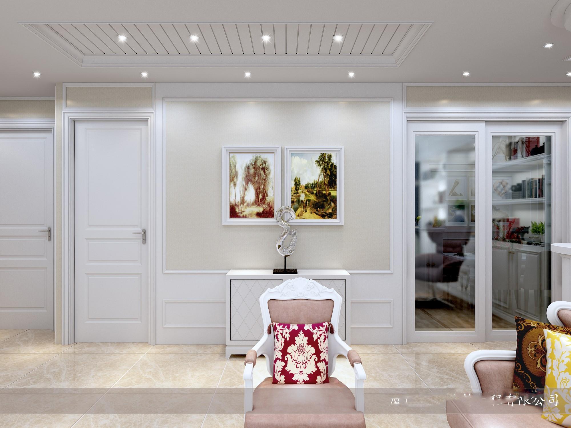 简欧客厅效果图-简欧客厅手绘效果图-客厅装修简欧-图