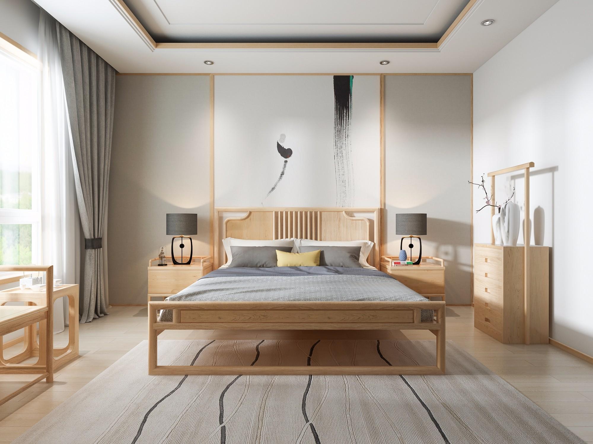 禅意新中式家具表现