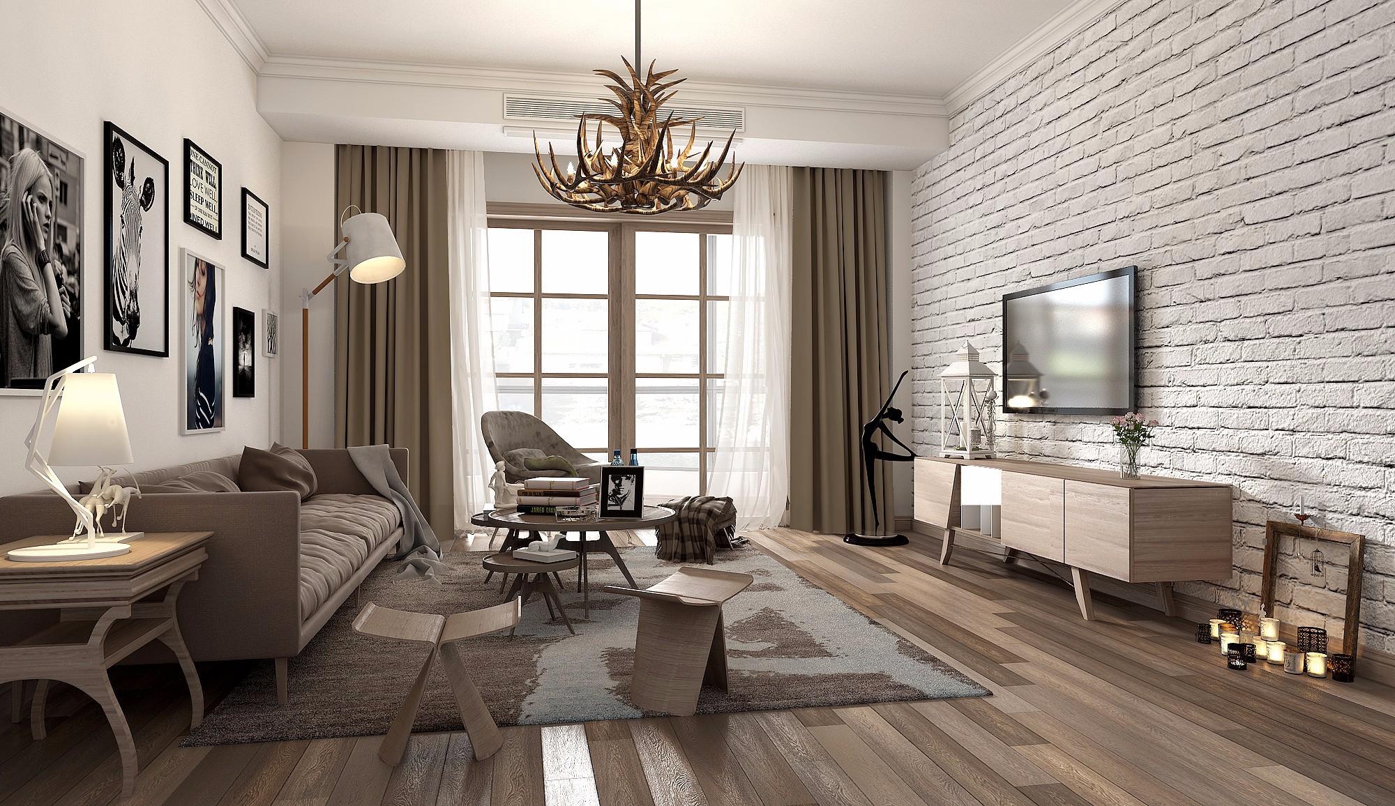 北欧小清新客厅 - 效果图交流区-建e室内设计网