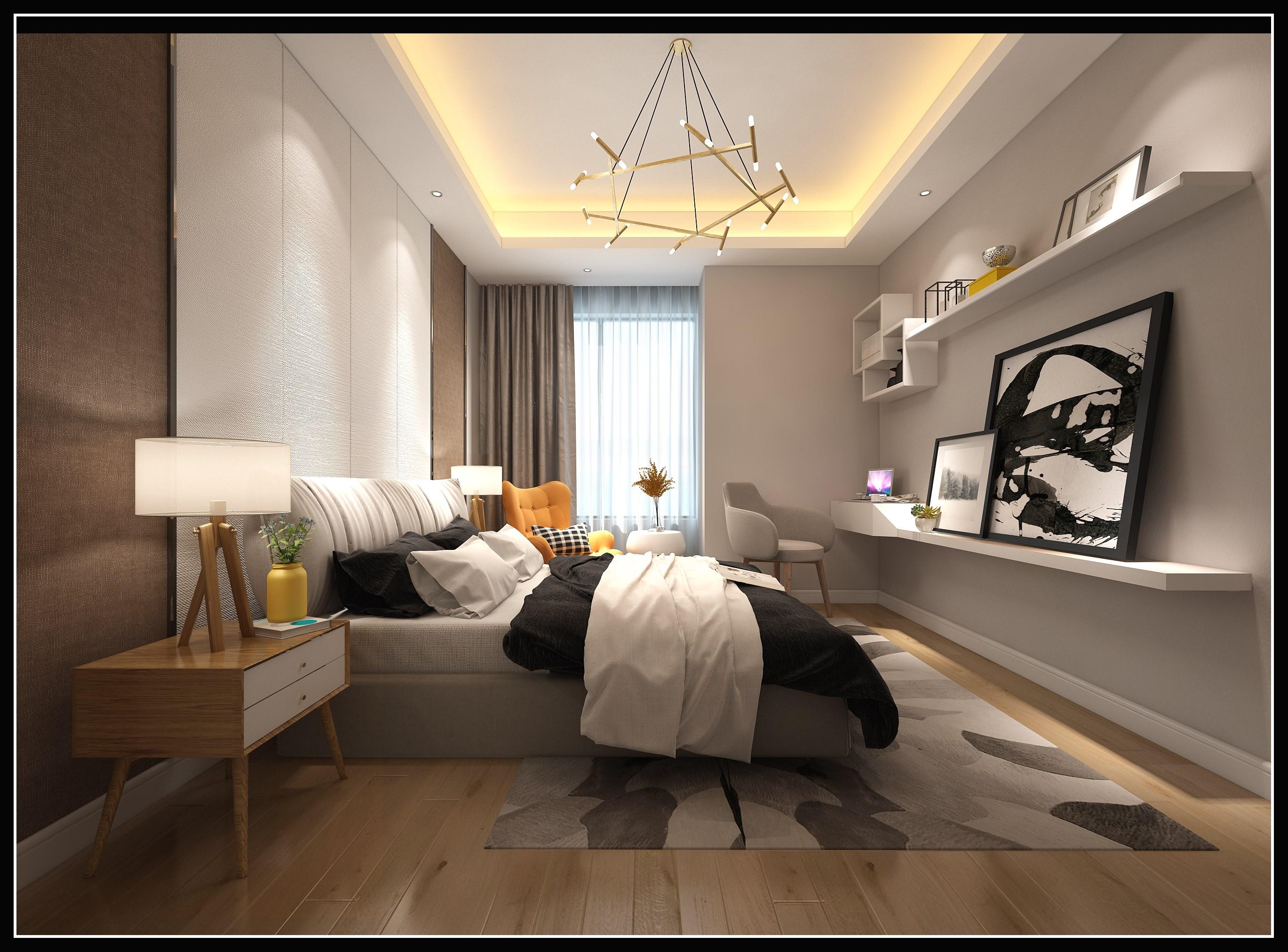 卧室- 效果图交流区-建e室内设计网