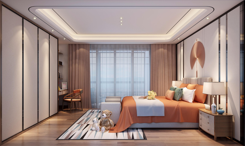 新中式客厅卧室 - 效果图交流区-建e室内设计网