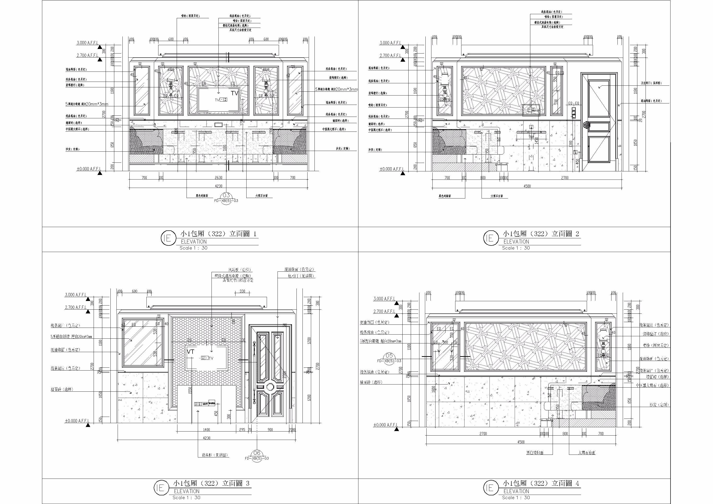 ktv 施工图案例 - 效果图作品交流区 - 建e分享交流