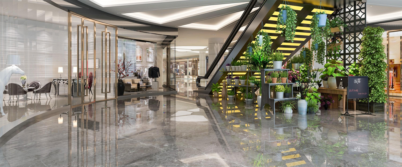 杭州萧山商场花店展示设计 - 效果图交流区-建e室内图片
