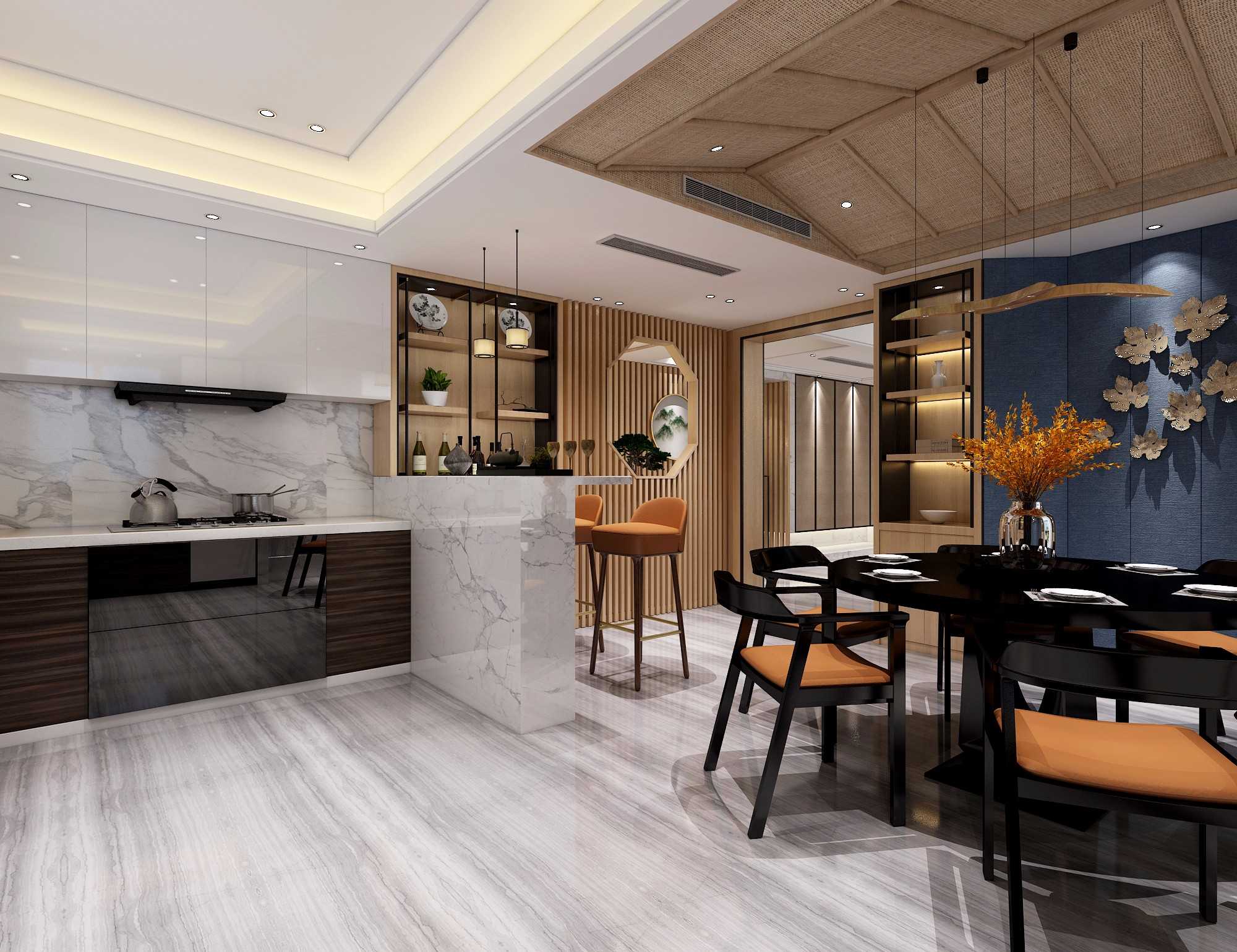 新中式客餐厅图片